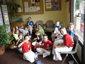 Kids having a blast at last year's third week of Summer Camp at the Easton Martial Arts Center