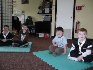 Picture from a recent toddler lesson at the Easton Martial Arts Center.